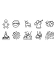 simply icons set with winter and Christmas holiday vector image vector image