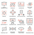Strategy Management System icons -1 vector image