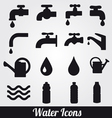 water and symbols set vector image vector image
