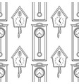 cuckoo clock and grandfather clock flat linear vector image vector image
