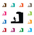 isolated hiking icon arete element can be vector image