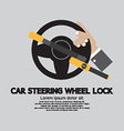 Car Steering Wheel Lock vector image