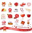 Valentines design elements vector image vector image
