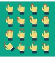 Icons with gestures vector image