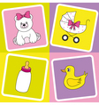 baby items vector image vector image
