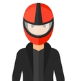 Woman in biker helmet vector image