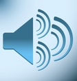 loud blue speaker with three vibration vector image