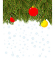 Christmas background Branch Christmas tree and vector image