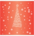 Christmas tree with red background vector image