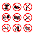 Do not icons set vector image