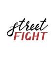 modern brush inscription street fight vector image