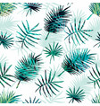Seamless exotic pattern with tropical palm leaves vector image