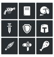 The evolution of weapons icons set vector image