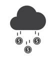 money rain icon vector image vector image