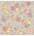 seamless floral light vector background vector image vector image