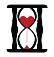 Hearts in Sand Clock vector image