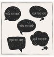 Set of abstract retro grunge speech bubbles vector image vector image