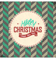 vintage lettering merry christmas vector image vector image