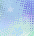 Winter horizontal banner snowflakes vector image