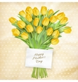 Card with Tulips EPS 10 vector image