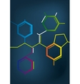Abstract Chemical formula vector image