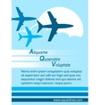 Airlines retro poster vector image