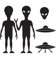 Alien and UFO vector image
