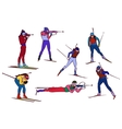 biathlon set vector image