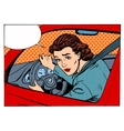 female driver offending transport traffic rules vector image