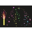 Fireworks fountain Colorful fireworks sparks on vector image