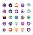 flat icon set of art and design vector image