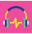 Headphones Icon Music Icon Music vector image