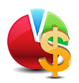 money graphs icon vector image