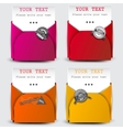 Paper sheets with envelopes vector image