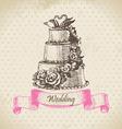 Wedding cake hand drawn vector image vector image