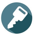 key and password icon vector image