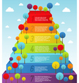 Rainbow pyramid with trees vector image vector image