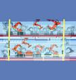 factory production smart conveyor robotic vector image