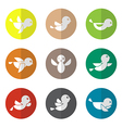 group of bird in the circle vector image