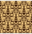 Seamless arabesque pattern in brown and beige vector image vector image