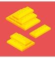 Isometric golden bars vector image