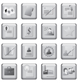 monochrome icons set vector image vector image