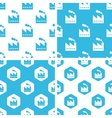 Factory patterns set vector image