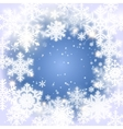 Snowflakes Christmas and new year design vector image vector image