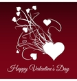 Happy valentines day Explode of white heart vector image vector image