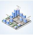 Crane construction industry vector image vector image