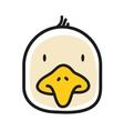 Cartoon animal head icon Chiken face avatar for vector image