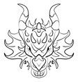 Black dragon tattoo design on white background vector image