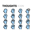 flat thoughts icons set vector image