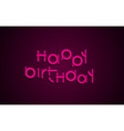 Happy Birthday festive text Dark background with vector image
